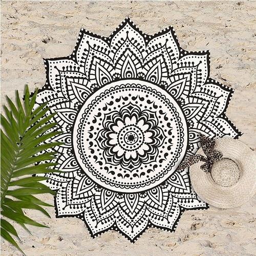 Bohemian Hippie Indian Cotton Star Mandala Beach Towel Tapestry