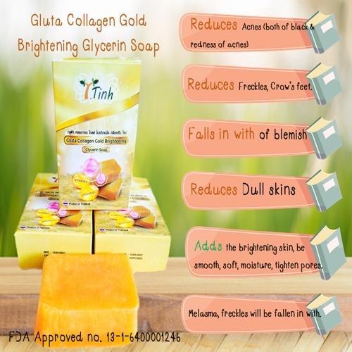 T. Tinh Gluta Collagen Gold Brightening Glycerin Soap