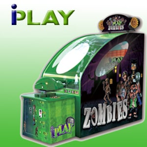 Hot Selling Coin Operated Iplay Vs Zombies Shooting Redemption Game Machine