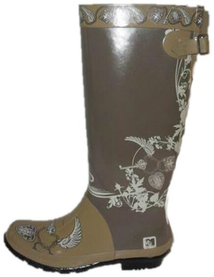 Women's Canvas Rubber sole Casual Rain Boots Shoes