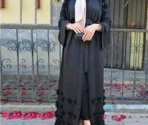 Women's Butterfly Dubai Abaya Mob. No. 0091 8956633655