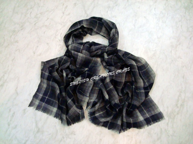Wool Check Scarves