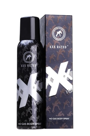 XXX Rated Hard No Gas Body Spray - For Men and Women (120 ml)