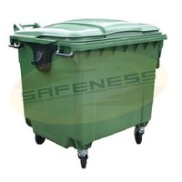 Covered Four Wheeled Dustbin
