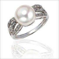 Platinum Pearl Rings