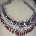 Stone Studded Diamond Bridal Necklaces