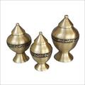 Brass Pet Urns - Set of 3 Pcs.
