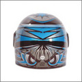 UNO Power Blue Biker Helmet