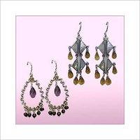 Gemstone Hook Earrings