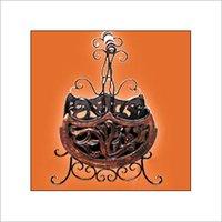 Brown Color Magazine Basket