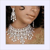 Choker Diamond Necklace Set