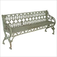 Silver Iron Handcrafted Bench