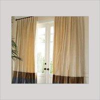 Bordered Silk Drapes
