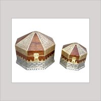 Wooden Jewelry Box With Inlay Work