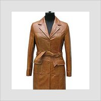 Womens Leather Long Coat