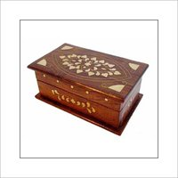 Trinket Box With Brass Inlay