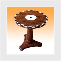 Appealing Look Wooden Round Table