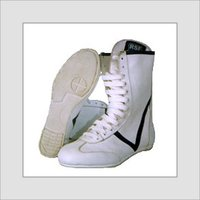 Rubber Sole White Boxing Shoes