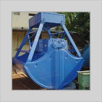 Blue Color Rehandling Clamshell Bucket