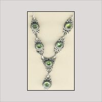 Designers Silver Stone Necklace