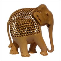 Hand Carved Elephants Figurine