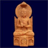 Regal Look Sandstone Buddha Statue