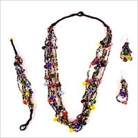Artificial Glass Bead Necklaces