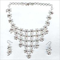 Fancy Silver Necklace Set