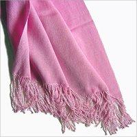 Plain Pink Color Silk Shawls