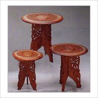 Wooden Tables With Special Fine Carved