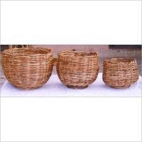 Light Weighted Cane Planter Basket
