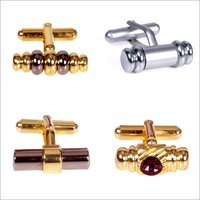 Glittering Look Brass Metal Cufflinks