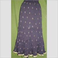 Ladies Long Printed Skirt