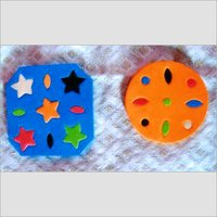 Printed Pattern Rubber Coaster