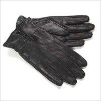 Black Color Leather Gloves