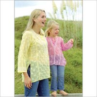 Embroidered Sequin Tops For Ladies And Children