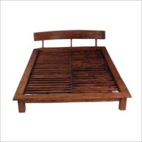 Pure Wooden Polished Bed