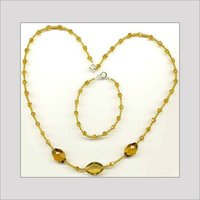 Designer Gold Beaded Necklaces