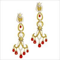 Womens Designer Gold Earrings