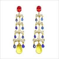 Womens Designer Stone Earrings