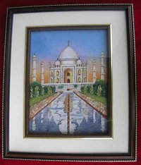Taj Mahal Gemstone Painting