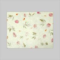 Flower Mottled Leaf Paper