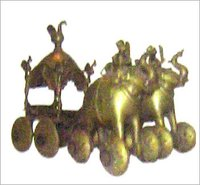 Handcrafted Antique Rath With Elephants