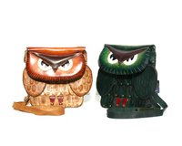 Handmade Leather Owl Bags