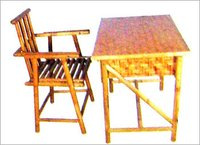 Bamboo Study Table With Chair