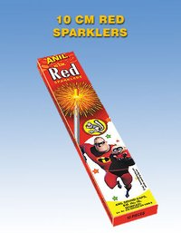 10cm Deluxe Red Sparklers