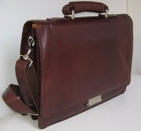 Leather Documents Files Bag