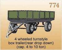 4 Wheeled Turnstyle Box Trailer
