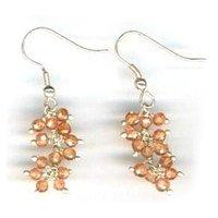 CZ Orange Earrings