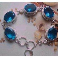 Facited Glass Stone Metal Bracelet